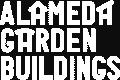 Alameda Garden Buildings Logo in White