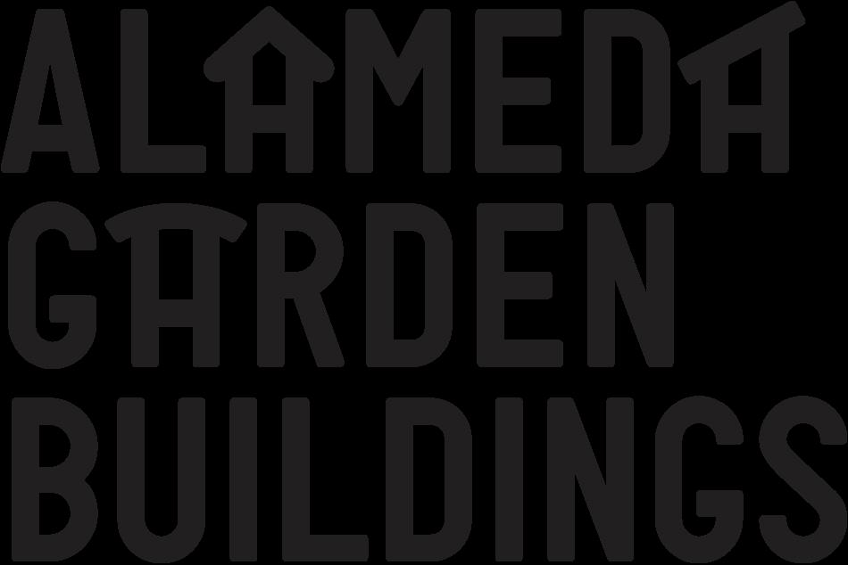 Alameda Garden Buildings Logo in Black